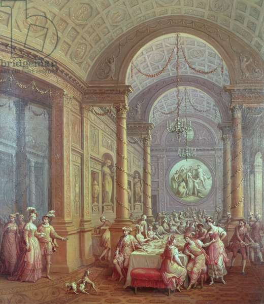 Fete Champetre at The Oaks, near Epsom: The Supper Room (oil on canvas) (see 204108)