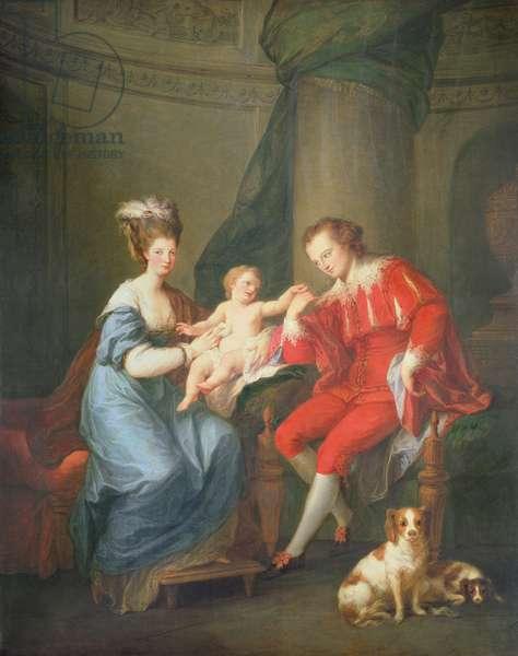 Portrait of Edward, 12th Earl of Derby and his Wife, Elizabeth Hamilton (oil on canvas)