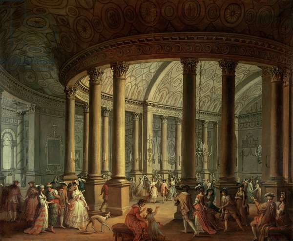 Fete Champetre at The Oaks, near Epsom: The Ballroom (oil on canvas) (204107)