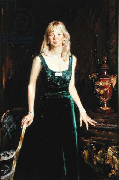 Caroline Emma Stanley, wife of the 19th Earl of Derby (oil on canvas) (see 203589 for pair)