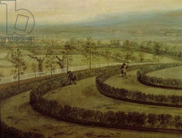 View of Knowsley Park from the Riding Hill Summer House, looking towards Prescot (oil on canvas) (see 204102)