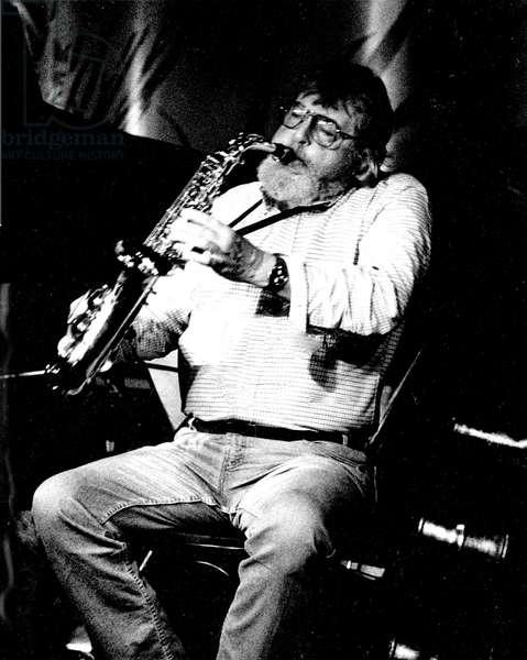 Bud Shank sitting