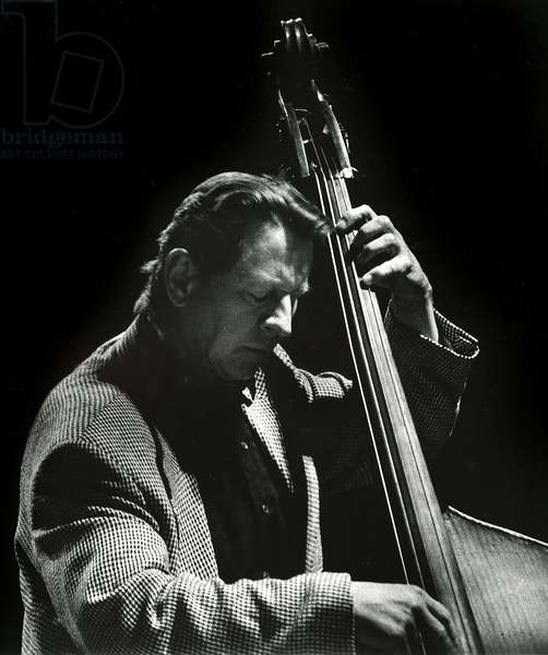 George Mraz, 1994 (b/w photo)
