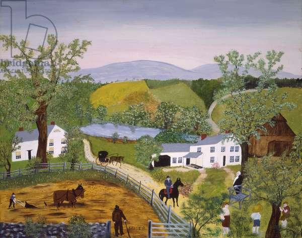 The Pond, 1950 (oil on pressed wood)