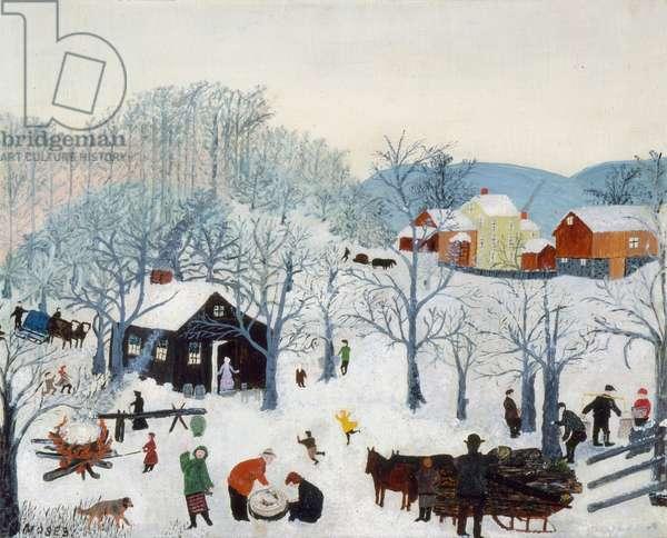 Maple Sugar Orchard, c.1941 (oil on pressed wood)