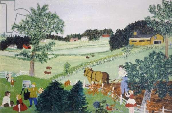 An Artist, 1954 (oil on pressed wood)
