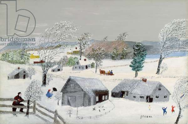 A Blizzard, 1958 (oil on pressed wood)