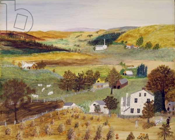 Ripe Pumpkins, 1951 (oil on pressed wood)