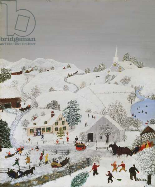 White Christmas, 1954 (oil on pressed wood)