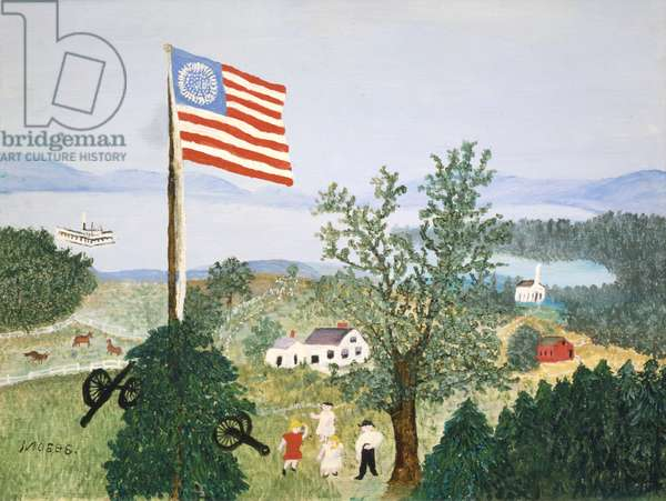 The Flag, 1958 (oil on pressed wood)