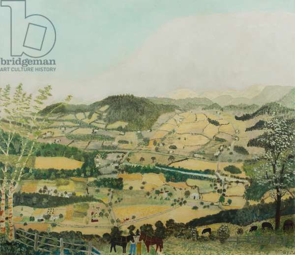 Cambridge Valley, 1942 (oil on pressed wood)