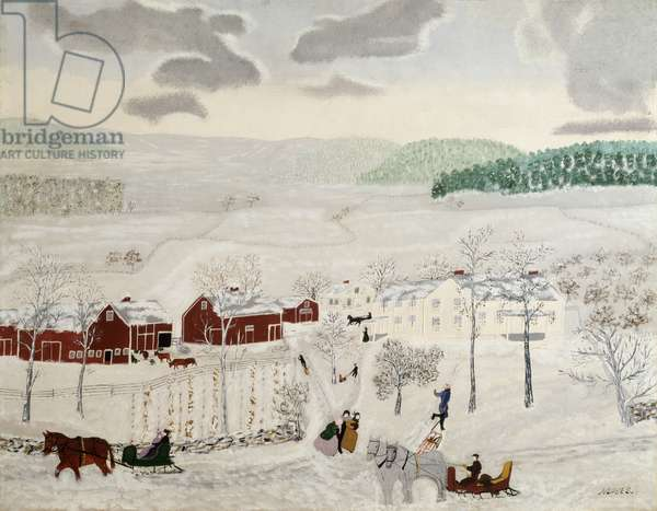Mt. Nebo in Winter, 1943 (oil on pressed wood)