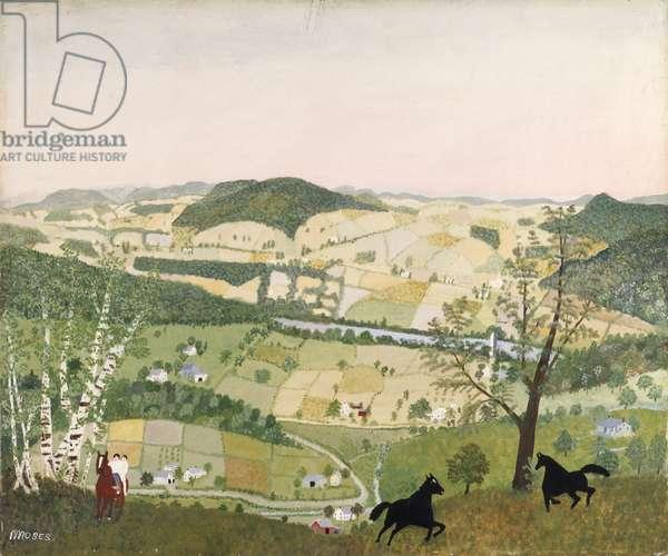 Black Horses, 1942 (oil on pressed wood)