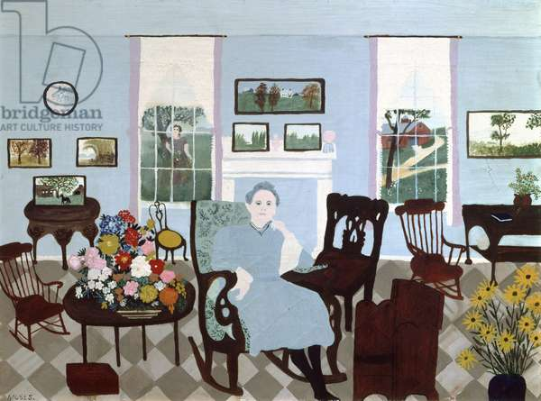 In the Studio, 1944 (oil on pressed wood)