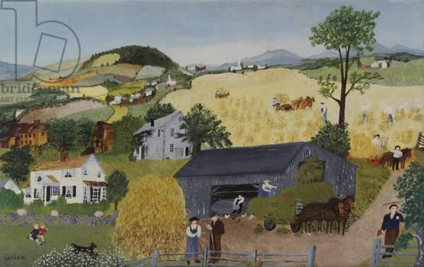In Harvest Time, 1945 (oil on pressed wood)