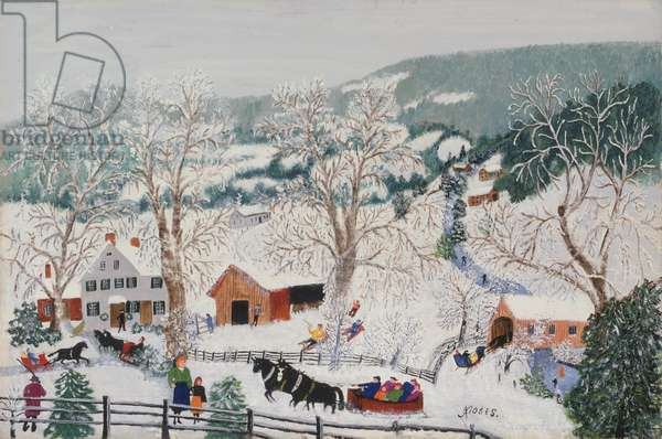 Sleigh Ride, 1957 (oil on pressed wood)