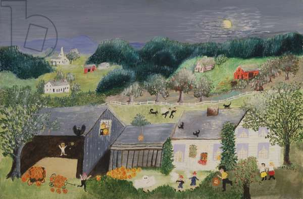Witches, 1960 (oil on pressed wood)