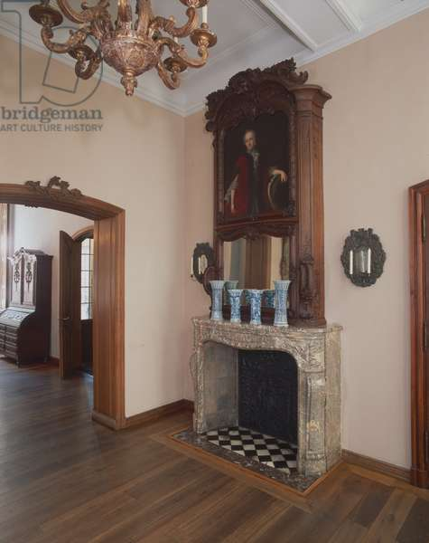 View of the fireplace from Haus Mennicken, Eupen, c.1750 (photo)