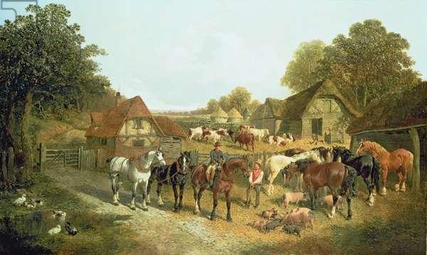 An English Homestead (oil)