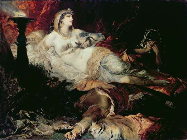 Death of Cleopatra (oil on canvas)