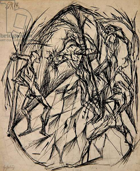 The Flagellation of Christ, 1914 (pen & ink and graphite on paper)