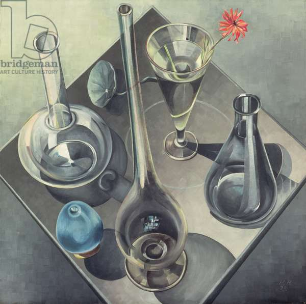 Glasses, 1927 (oil on canvas)