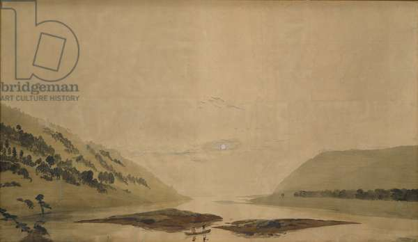 Mountainous Landscape with River in the Morning, 1830/35 (w/c & tempera on transparent paper) (pair to 265365)