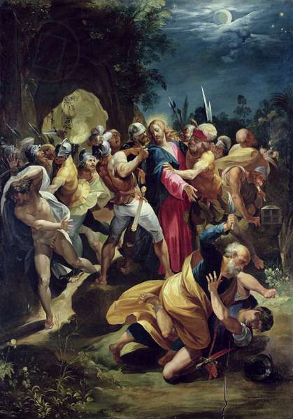 The Arrest of Christ, c.1590s (oil on panel)