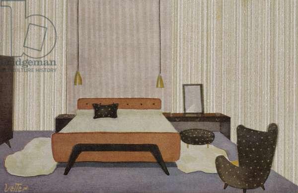 Cut-out illustration of Bauhaus wallpaper, Bauhaus '54