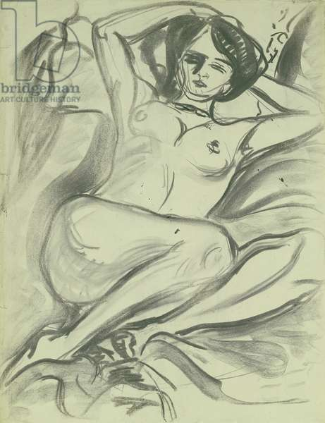 Reclining Nude (Isabella), 1906 (charcoal on paper)
