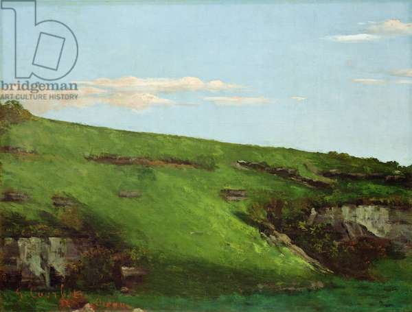 Wiesenhang near Ornans, 1862 (oil on canvas)
