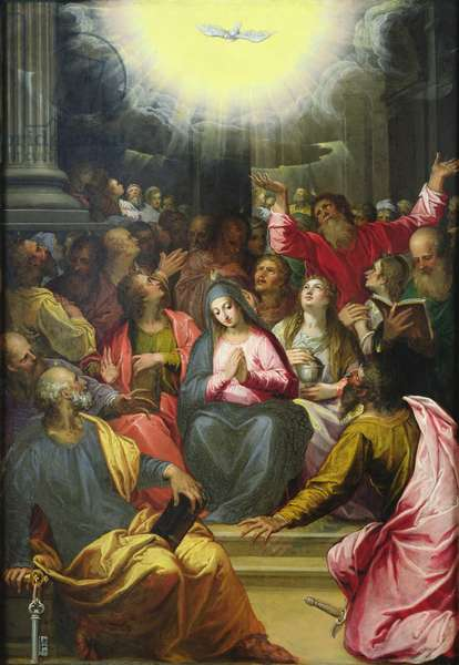 The Descent of the Holy Spirit, 1594-95 (oil on copper)