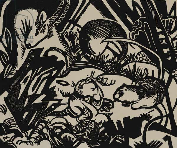 Animal Legend (woodcut)