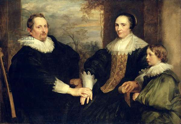Family Portrait of Sebastian Leerse (1584-1664) with his Wife and Son, 1630-32 (oil on canvas)
