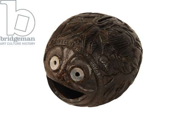 Carved coconut money box bugbear, Spanish Colonial, c.1800 (coconut)