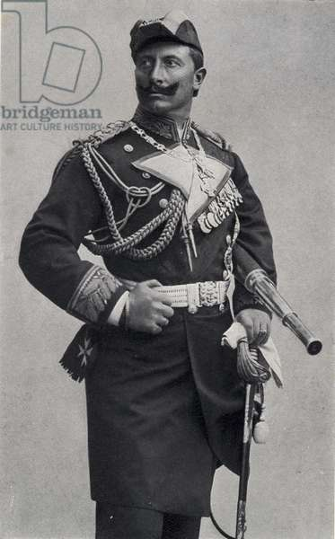 Kaiser Wilhelm II (1859-1941) Emperor of Germany and King of Prussia (1888-1918) (b/w photo)