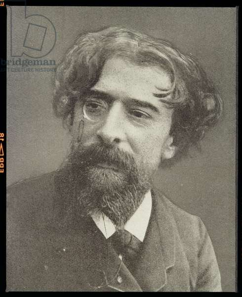 Alphonse Daudet (1840-97) (b/w photo)