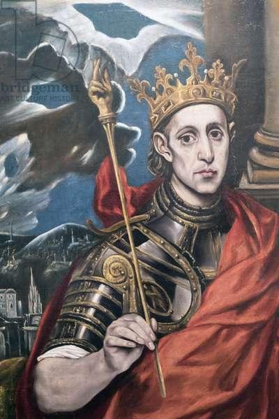 St Louis, King of France, by a follower of El Greco, exhibited in the El Greco museum, Toledo, Toledo Province, Castilla-La Mancha Spain