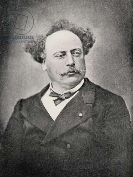 Alexandre Dumas Fils (1824-95) (b/w photo)