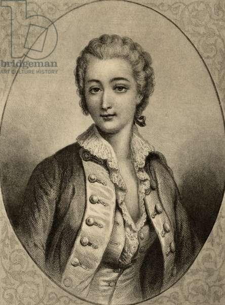 Madame du Barry (1743-93) (litho)