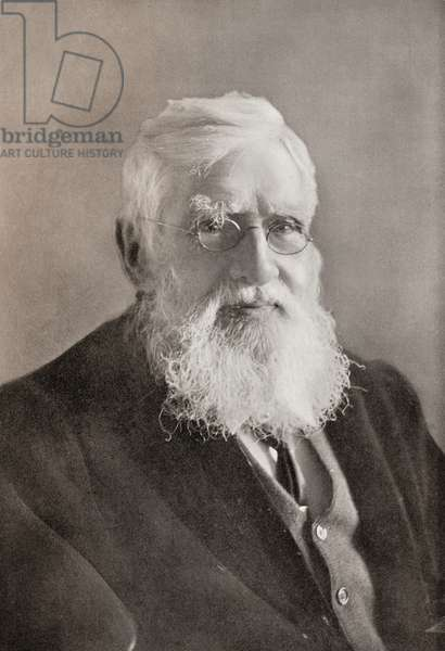 Alfred Russel Wallace, 1823 – 1913.  British naturalist, explorer, geographer, anthropologist and biologist.  From The Year 1914 Illustrated.