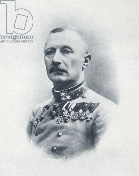 Oskar Potiorek, from 'The Illustrated War News', published in 1914 (litho)