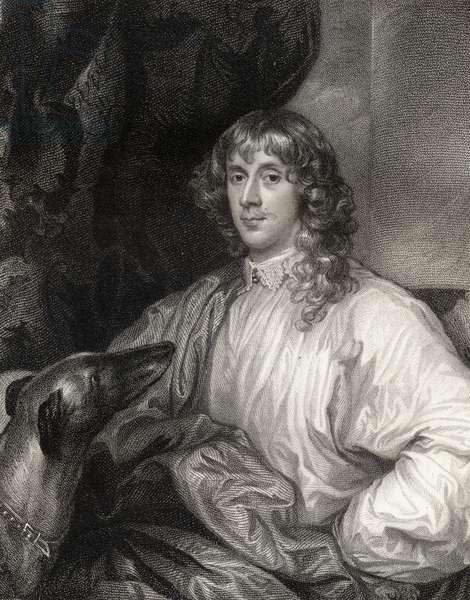 Portrait of James Stuart (1612-55) 1st Duke of Richmond, from 'Lodge's British Portraits', 1823 (litho)
