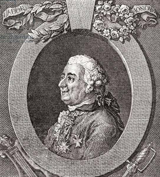 Louis-Élisabeth de la Vergne, comte de Tressan, 1705- 1783.  French soldier, physician, scientist, medievalist and writer.  From Les Heures Libres published 1908.
