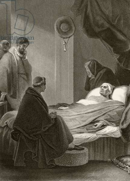 The death of Cardinal Wolsey at Leicester Abbey, November 29, 1530, from 'The National and Domestic History of England' by William Hickman Smith Aubrey (1858-1916) published London, c.1890 (litho)