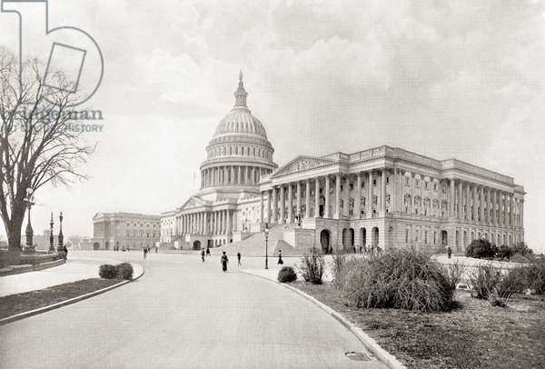 The United States Capitol, aka Capitol Building, Washington D,c., United States of America, seen here c.1911, from The Wonders of the World, pub. c.1911