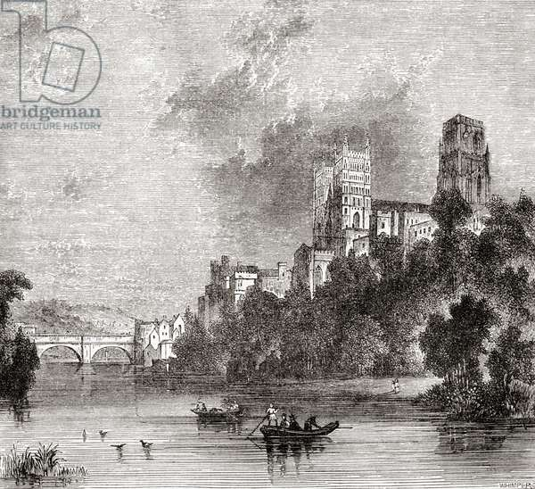 View of Durham and the Cathedral, seen from the River Wear, Durham, England
