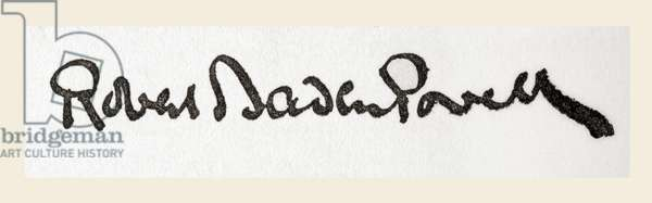 Signature of Lieutenant General Robert Stephenson Smyth Baden-Powell, 1st Baron Baden-Powell