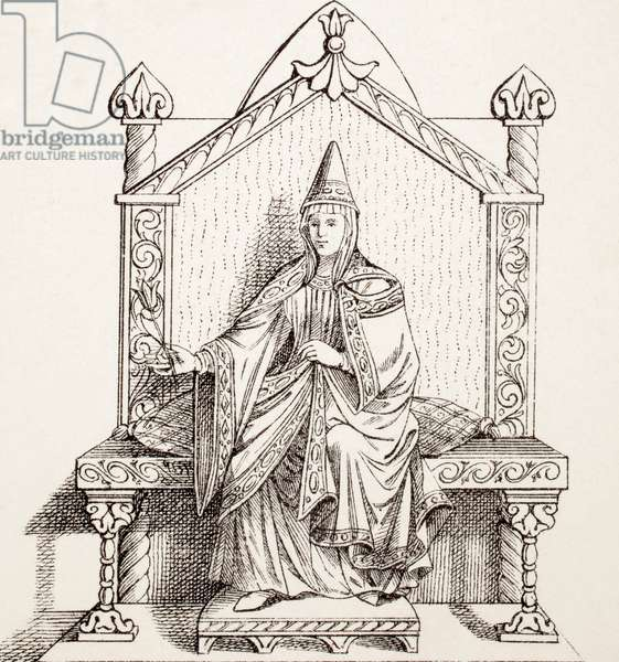 Matilda of Tuscany, from L'Histoire Universelle Ancienne et Moderne, published in Strasbourg c.1860 (engraving)