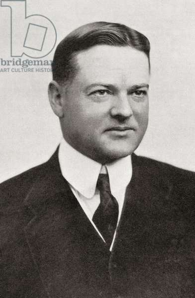 Herbert Clark Hoover, 31st President of the United States of America, from The Year 1919 Illustrated